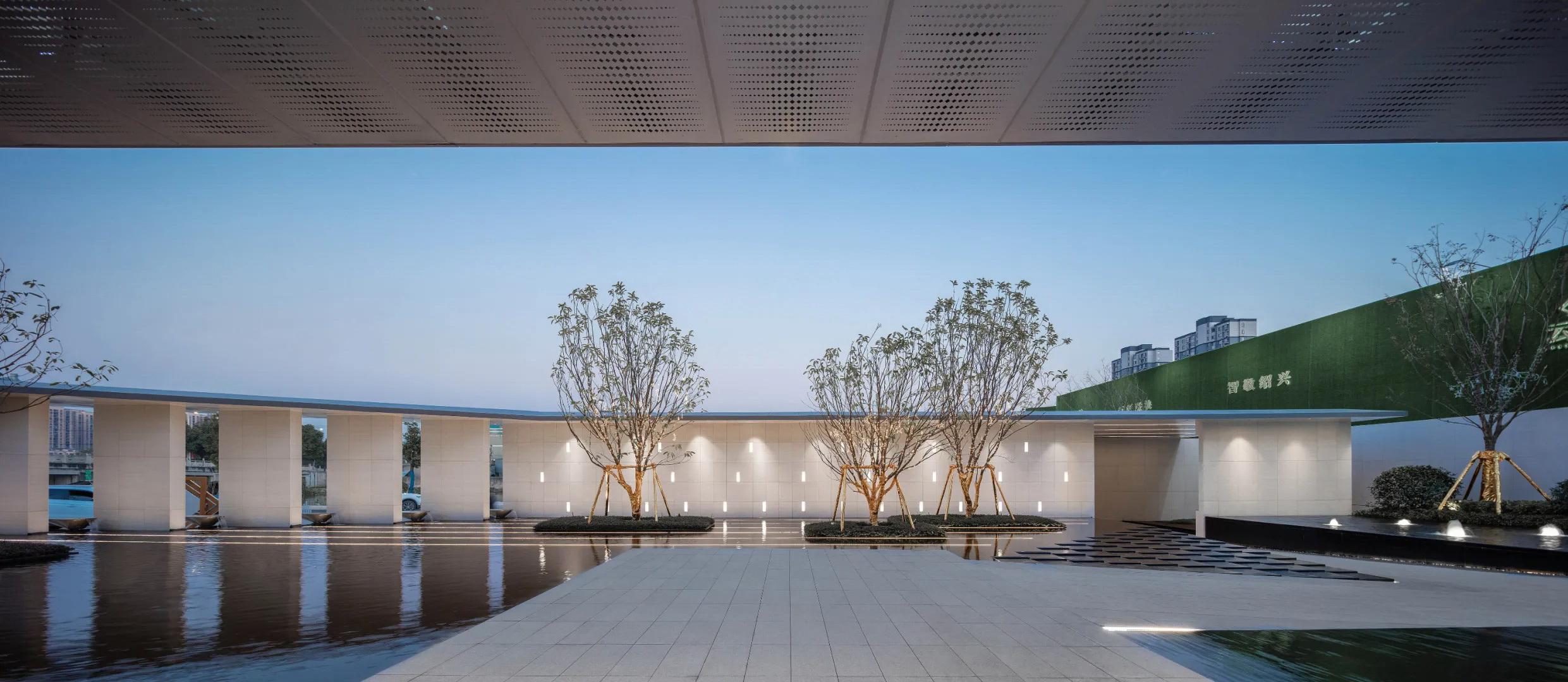 绍兴世茂美的•云筑 示范区 景观设计 /  QIDI栖地设计