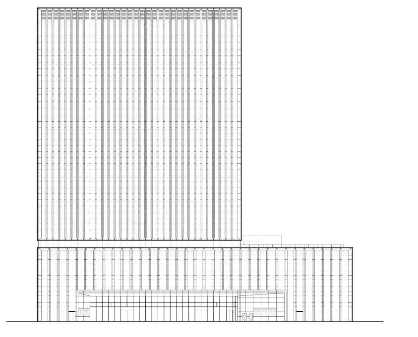 淄博东岳大厦 建筑设计 /  上海三益建筑设计有限公司