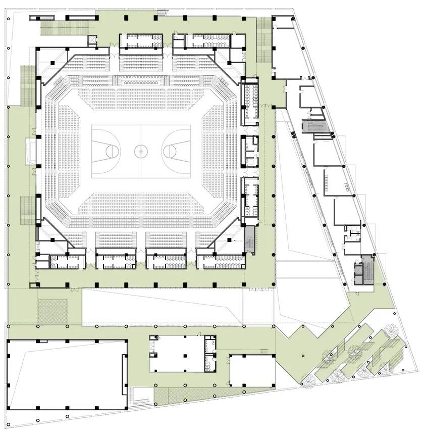 上海青浦区体育文化活动中心 建筑设计 /  原作设计