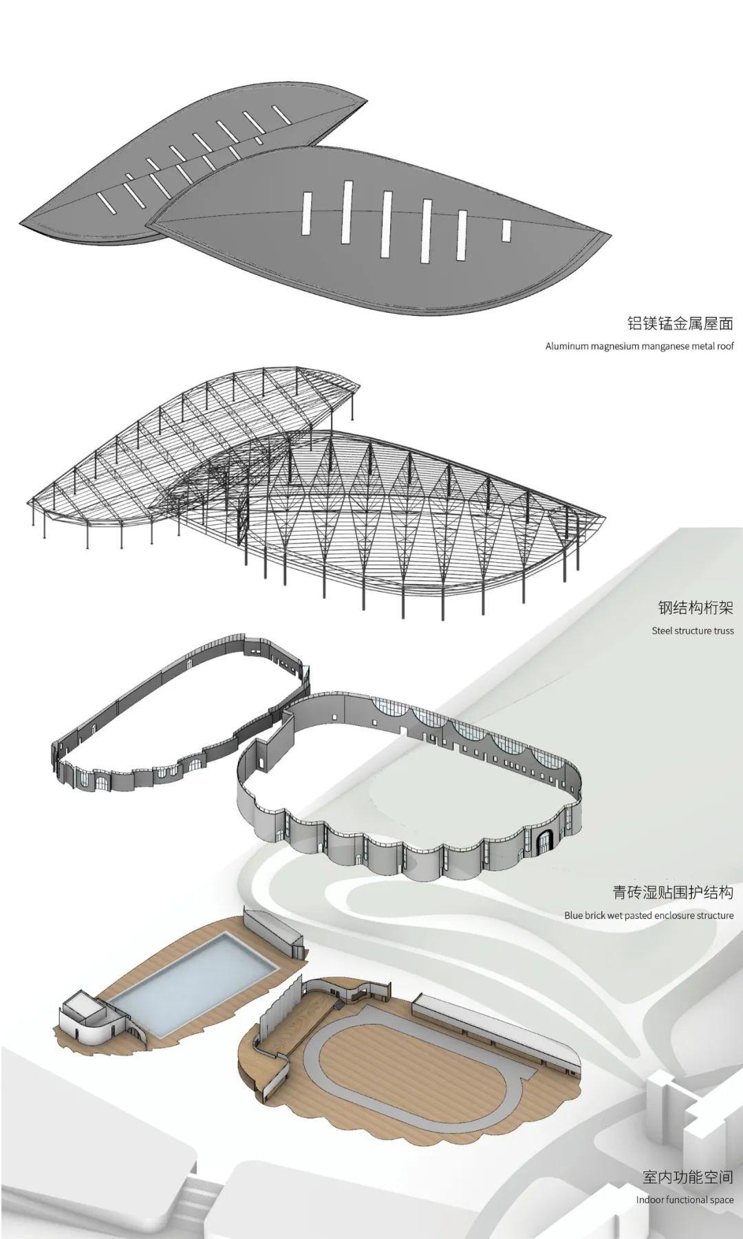 福建建瓯一中体育馆游泳馆 建筑设计 / 天华设计