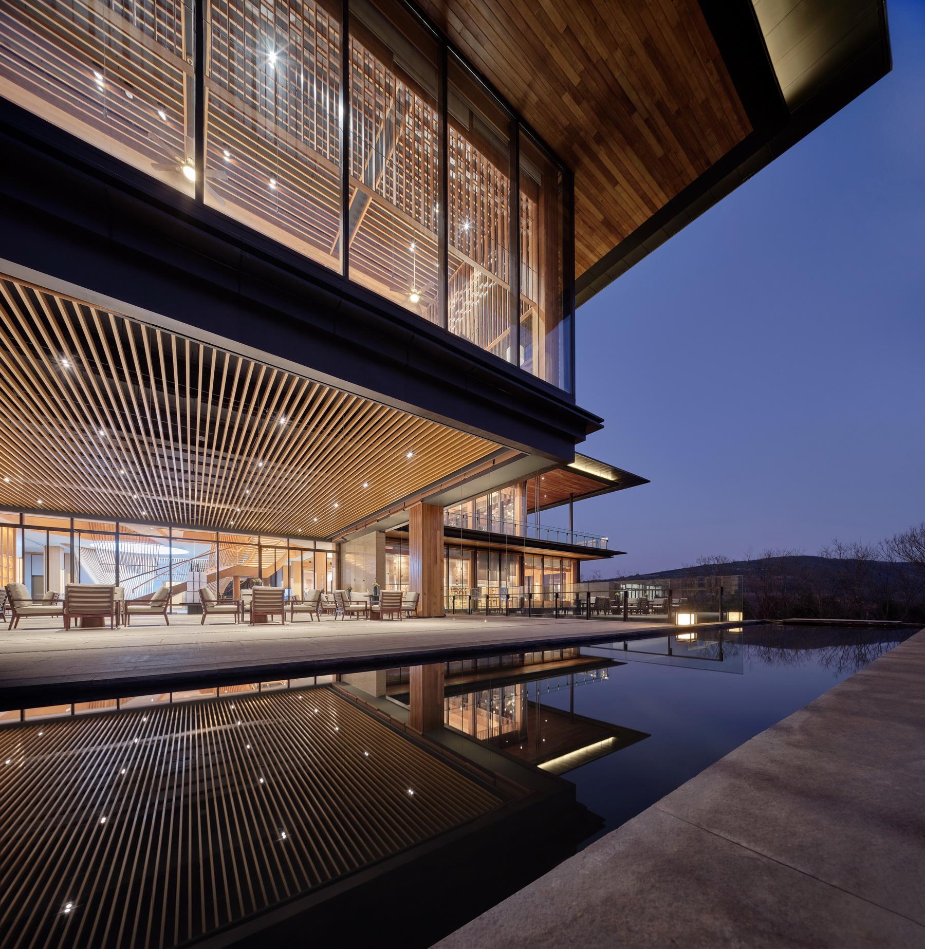 意思桥康旅小镇 九溪云舒体验中心 木构设计 /  上海隽执建筑科技